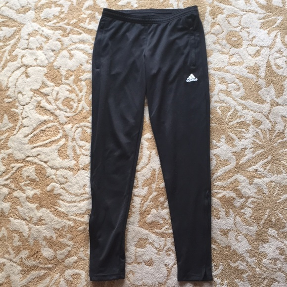 All Black Adidas Climalite Soccer Sweatpants